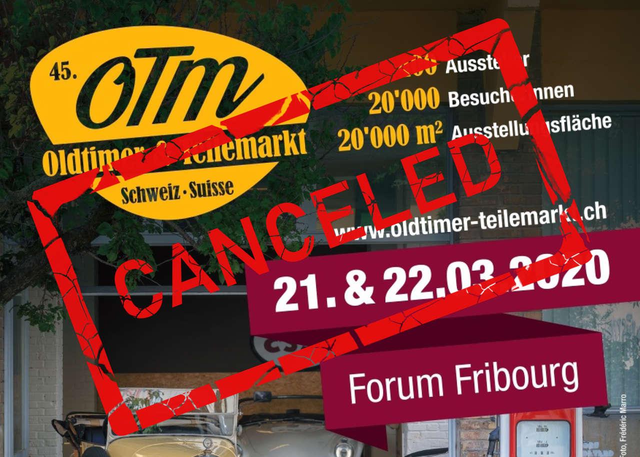 Oldtimer- und Teilemarkt in Fribourg 2020 annulliert